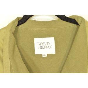 Thread & Supply Jackets & Coats - Thread & Supply jacket SZ L drab olive green moto